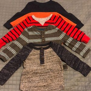 4 pack Old Navy Long sleeve shirts 12-18 months